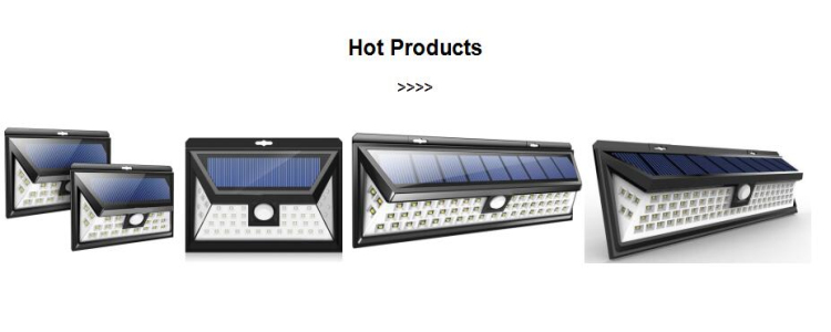Portable home 54led solar energy super bright solar wall lamp with sensor switch