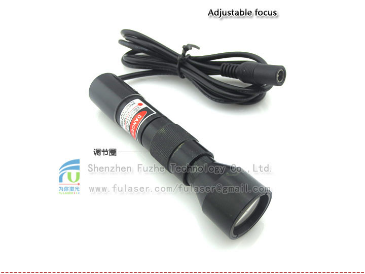 FU650AD100-GD24 640-665nm 100mW adjustable red color Beam Expander red <strong>Laser</strong> with adjustable focus