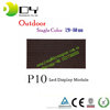 Outdoor/indoor P10 full color/single color led screen display module panel