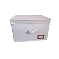 Canvas Fabric Covered Decorative Living Box Home Clothes Storage Box