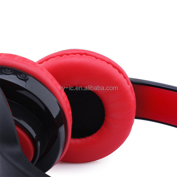 Newest Fashion Stereo FM TF Card Bluetooth Headphone with MIC