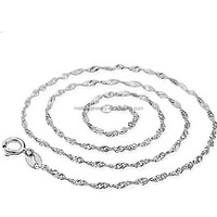 925 Sterling Silver Wave Chain Necklace Patterns