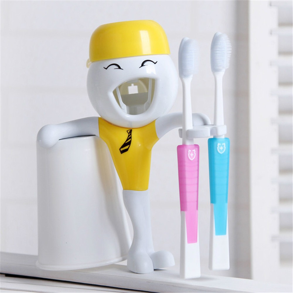 toothpaste tube packaging,brand names toothpaste,Free Brush Holder Automatic Squeeze Toothpaste