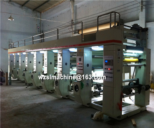 Middle speed hdpe/ldpe film gravure printing machine