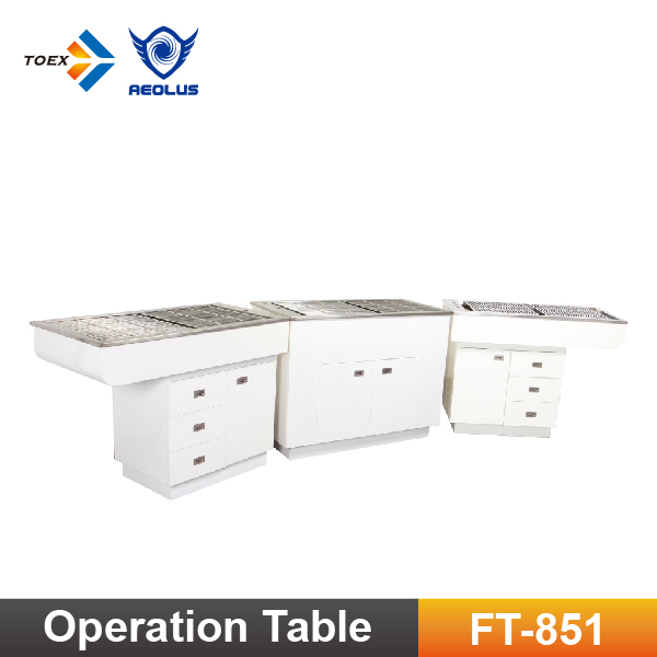 FT-851 Veterinary Dental Equipment Pet Operation Surgical Preparation Table