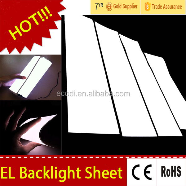 Large size electroluminescent paper/custom el backlight/led paper thin