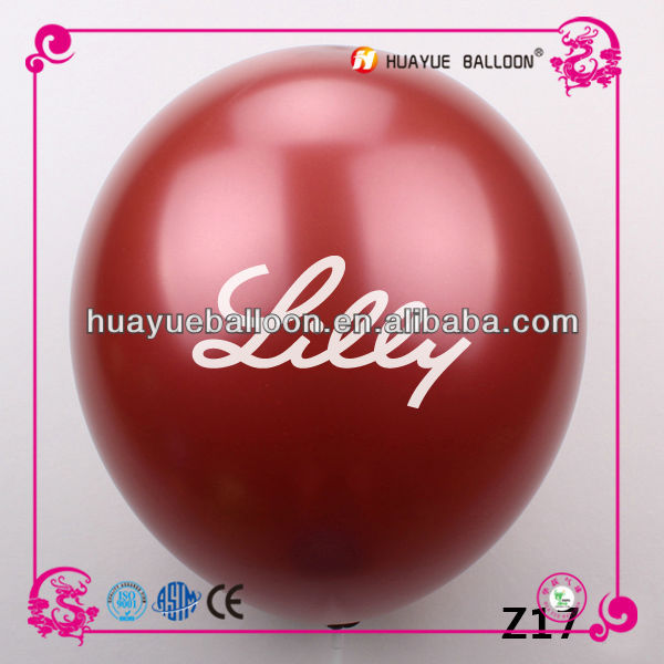 10 inch high quality round latex printed balloon