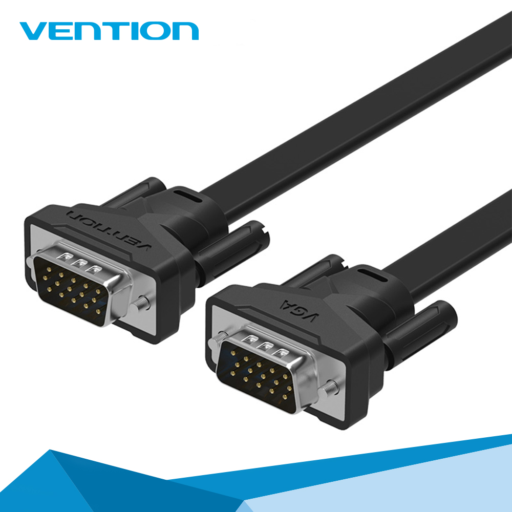 High Premium Vention Male to Male VGA to VGA Flat Cable