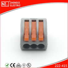 222 - 413 Terminal Block 3 Pole Replace WAGO Compact Splicing Connector With UL IEC