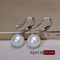Pear Drop Ladies Earrings Platinum Plating Fashion Eardrop