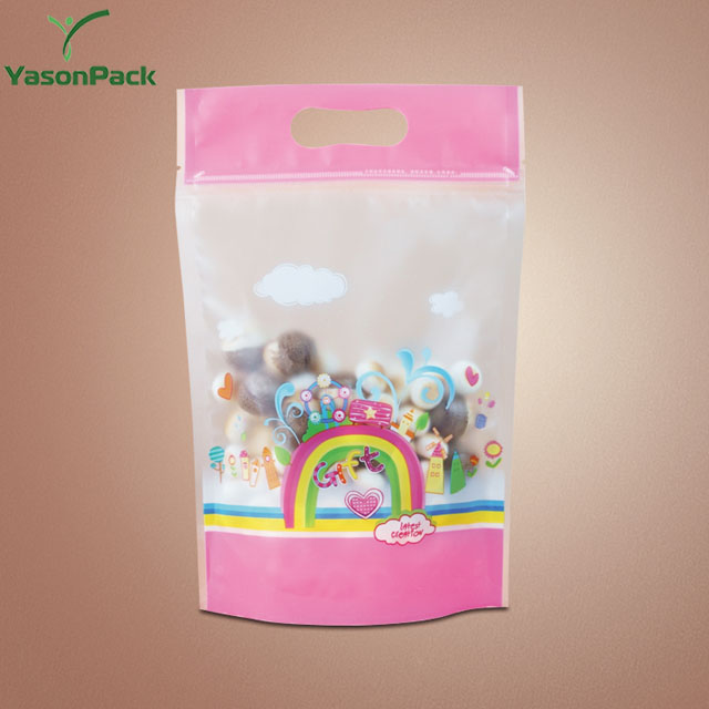 Manufacture packaging chocolate mini printed transparent plastic custom zip lock bags
