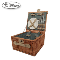 Willow Wine Basket Food Wicker Picnic