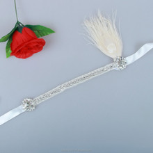 Vintage Cheap Feather <strong>Headband</strong> For Women Handmade HD0011