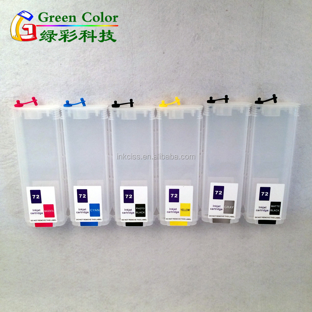 Hot sell ink cartridge for HP72 for HP Designjet T1200 T610 T620 T770 T790 T1100 T1120 T1300 T2300