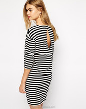 Fashion back keyhole detail stripe dress cheap china bulk wholesale clothing