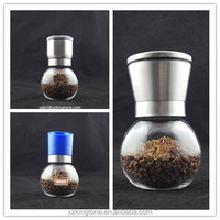 200ml manual pepper grinder with stainless steel grinder cap wholesale