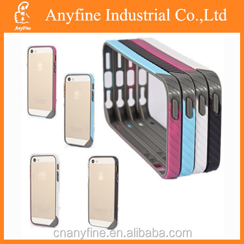 TPU Colorful Bumper Case Cover frame for Iphone5/5s