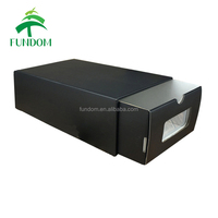 100 recycle wholesale black white brown corrugated paper storage shoe box with window