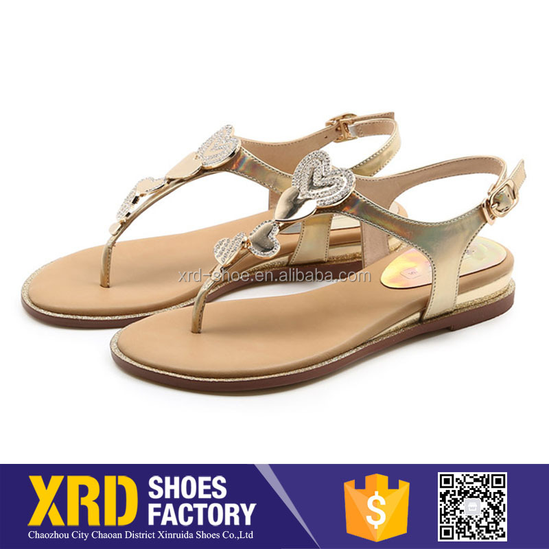 Cheap price lades shoes women sandals/different women flat sandal pu shoes