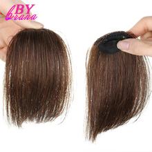 Indian Hair 100% Human Hair Bangs Light Brown Color Wig Fringe Clip In Human Hair Extensions Piece For Women Clip On Bangs