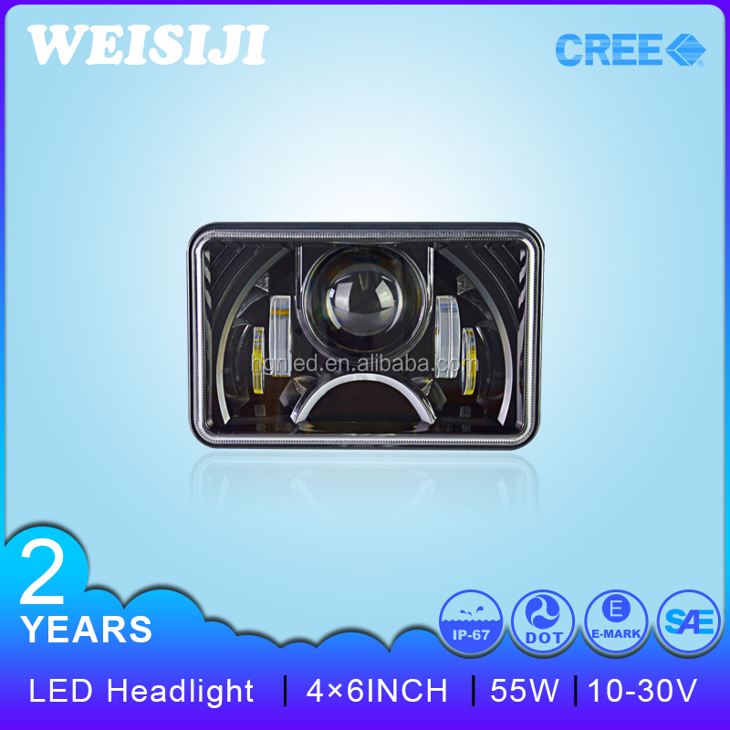 "New arrival Smart design 55W led headlamp 4""X6"" truck led headlight led volvo truck headlight"