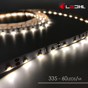 Edge emitting SMD 335 waterproof led decorative light strip, 12v 60 120 Flexible Led Strip