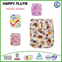 Happy Flute super soft reusable baby cloth diaper insert microfiber and bamboo factory diapers