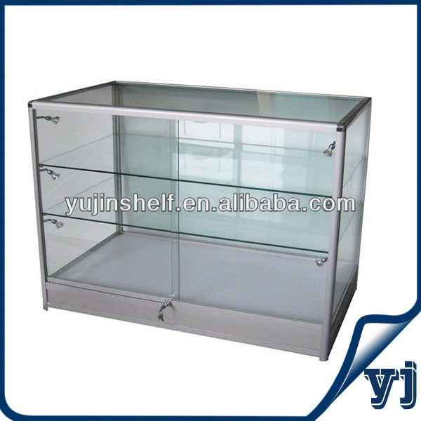 One meter tall glass display case 3 layers with light and lock