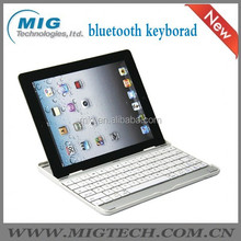 bluetooth keyboard for ipad 2 3 4 case and PU Leather Case with packaging 2 colors