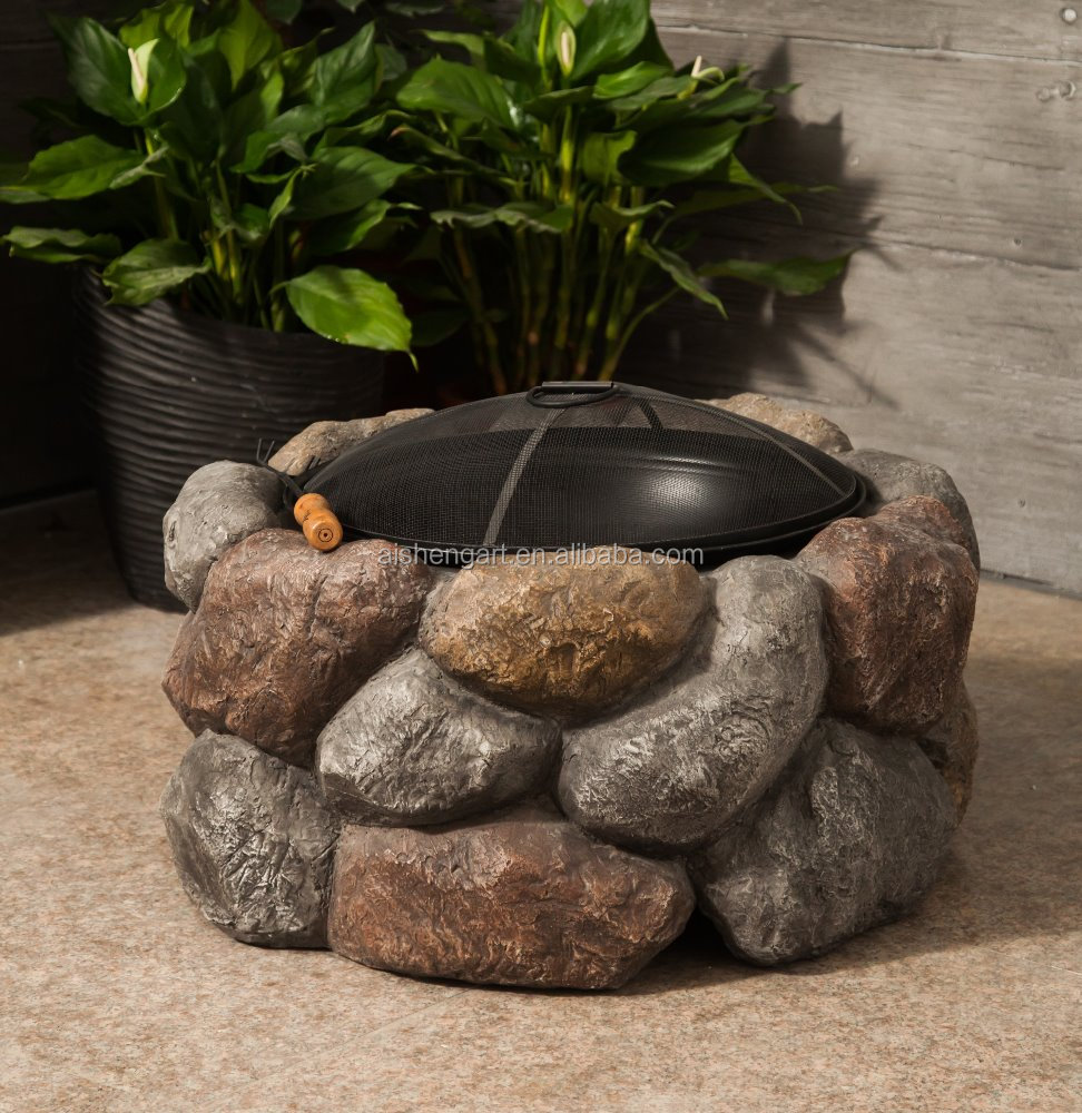Stone fire bowl outdoor Fire Pit