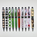 Promotion Stationery Publicity Gift Leather Pen Metal Twist Mont Blank Pen Touch Stylus Pen