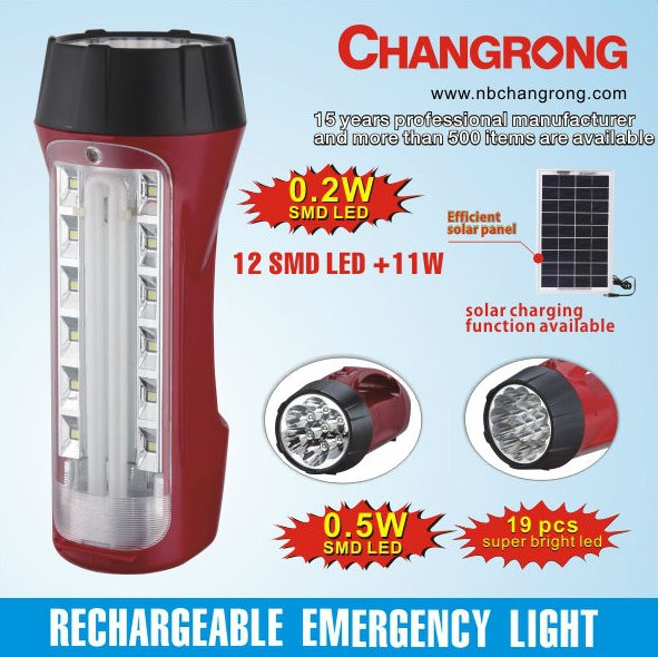 rechargeable portable led emergency solar lamp