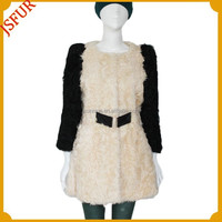 2015 European Style Women Warm Overcoat Real Sheep Fur Coat