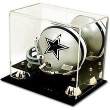 Brand New Deluxe UV Protected acrylic Mini Football Helmet Display Case with Mirror Back