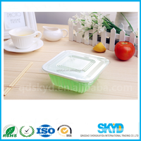 disposable plastic container for lunch tray
