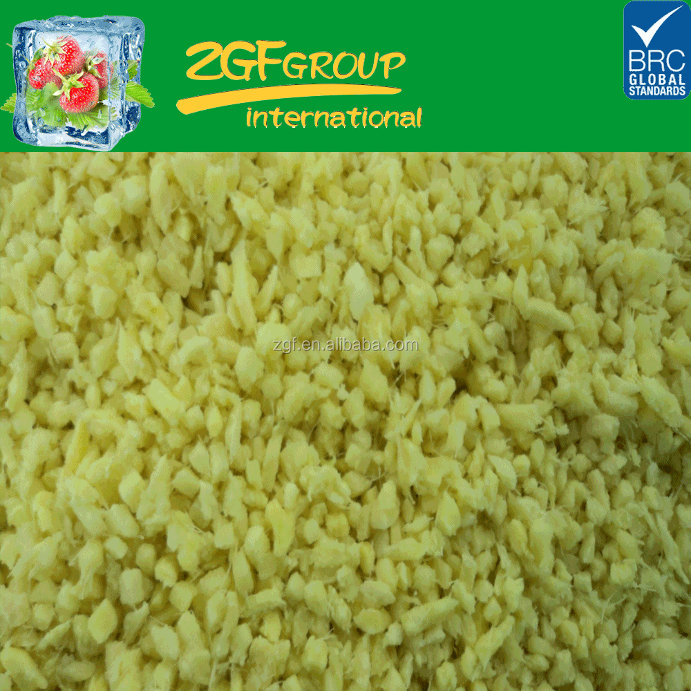 Frozen IQF Diced Peeled Ginger, 4*4 mm
