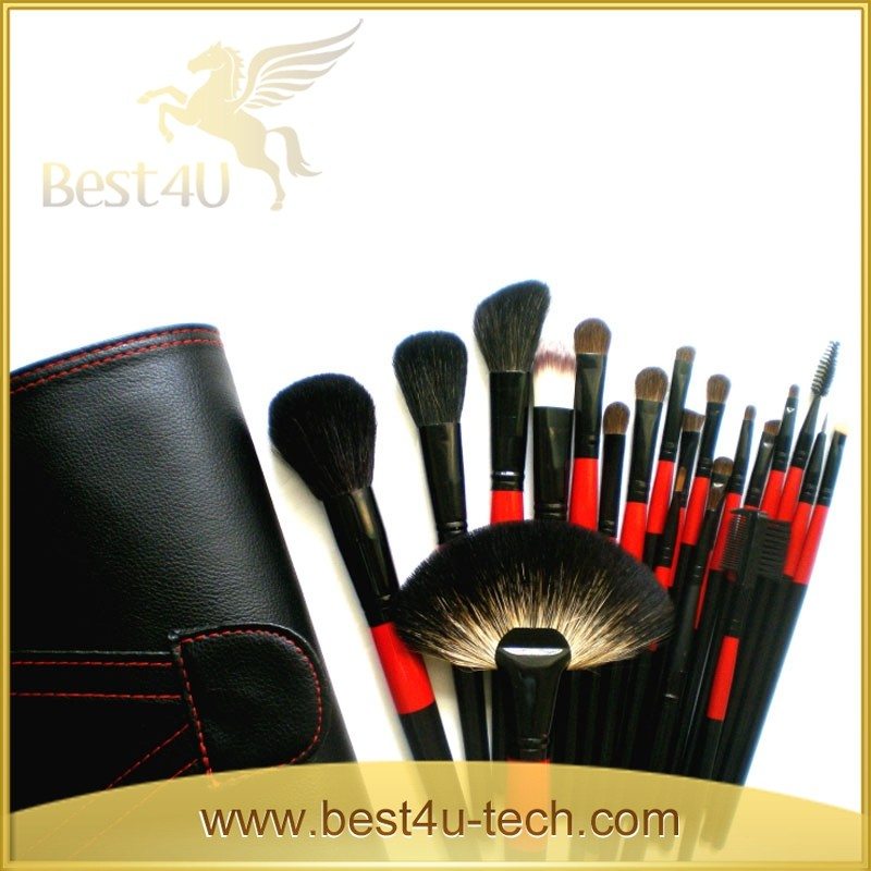 High Quality 22pcs Professional Makeup Cosmetic Brush Kit/Kit with Luxury Black Bag