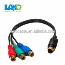 9 pin mini din to rgb cable for computer keyboard Mouse