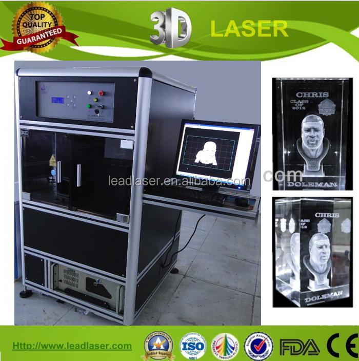 Synthesized Technical Larger Crystal Trophy 3D Photo Laser Engraving Machine
