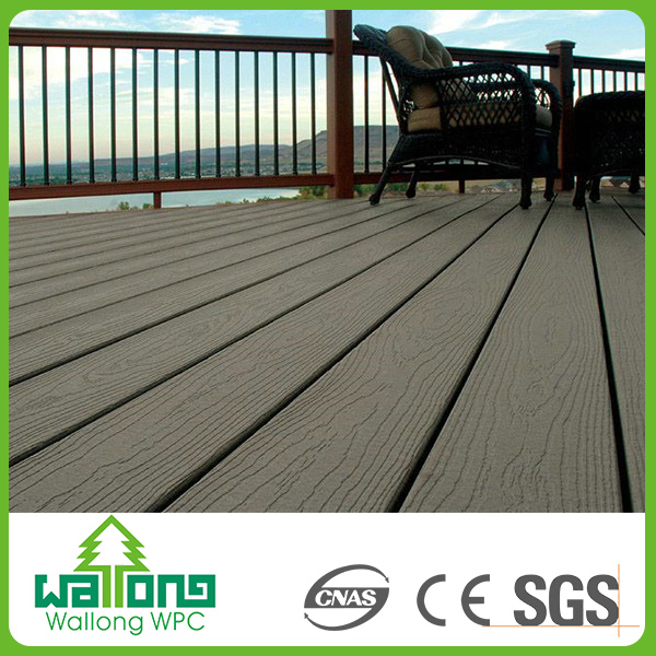 Wpc wood plastic composite wear resistant outdoor hollow black sparkle floor tiles
