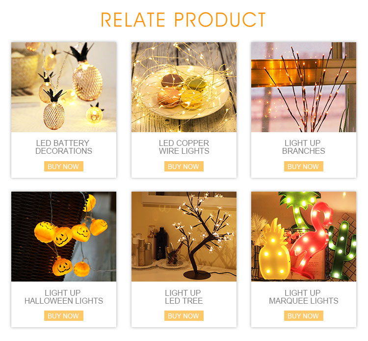 Hot Sale Plastic Palm Tree lights