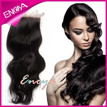 "High Quality Unprocessed Malaysian Virgin Human Hair Invisible Free Parting 6x6"" Silk Base Lace Closure"