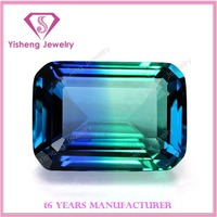 Newest Artificial Loose Rainbow Emerald Cut Glass Gem Stone for Jewelry