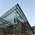 China supplier large-span steel structure framework modular building