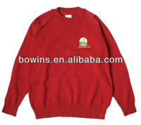 2013 winter youth wool acrylic blends long sleeve v neck school sweater pullover