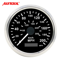 Car Truck Motor Stainless steel waterproof Digital Gauges Auto Digital GPS Speedometer 200 km/h