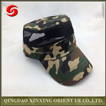Whosale Camo Military Cap Hat custom cotton mesh baseball cap army cap