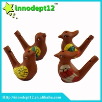 Clay ceramic small bird water whistle, Bath toys bird whistle, whistle in stock