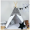 Hot Sale Kid Play Teepee Tent Pop Up Indian Tent Natural Canvas Teepee Tent New Zealand Pine Poles