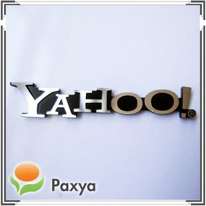 Personalized aluminum metal logo nameplate for advertisement
